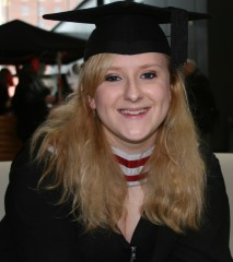 Rhiannon Cole - recent winner of Swansea University's award for the highest overall mark for a dissertation in Criminology.